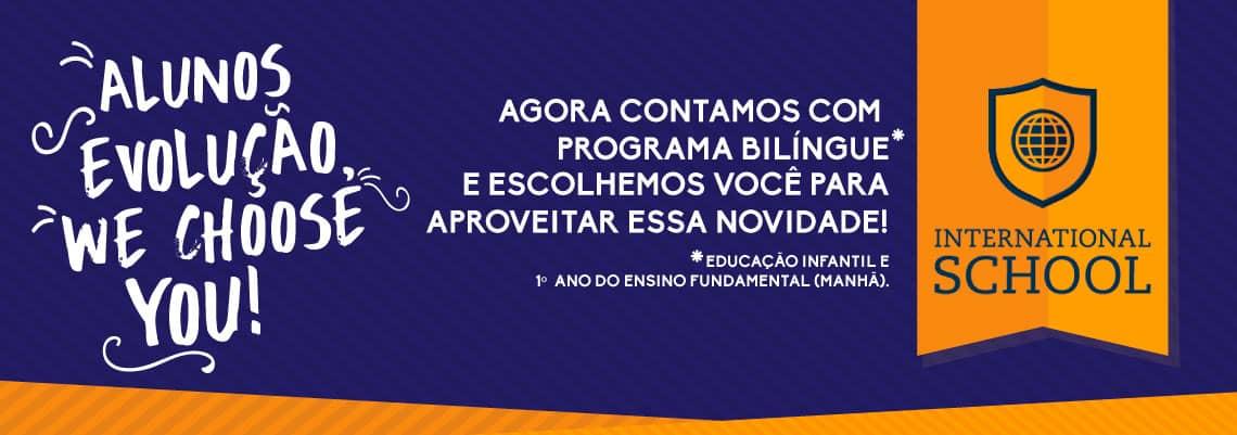 Colégio com programa bilíngue da International School